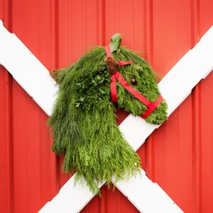 Holiday 2015 Horse Head Wreath