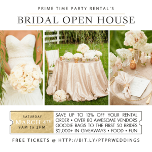 Attend the Prime Time Bridal Open House 2017