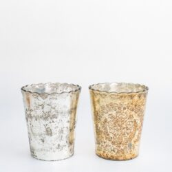 Silver & Gold Ruffled Vases