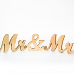 Gold Mr and Mrs