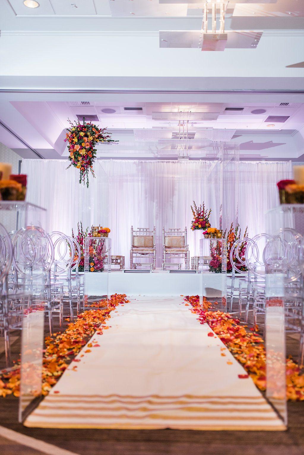 Indian-wedding-ceremony, Indian-mundap, mundap, acrylic-mundap, indian-wedding, indian-wedding-decor, dayton-ohio-indian-weddings